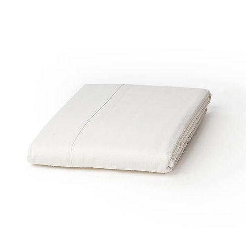 מפת שולחן דמוי פשתן - לבן