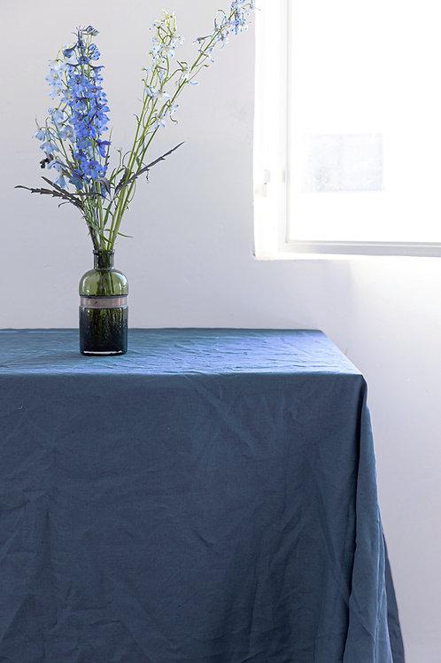 מפת שולחן 100% פשתן - Ocean Blue