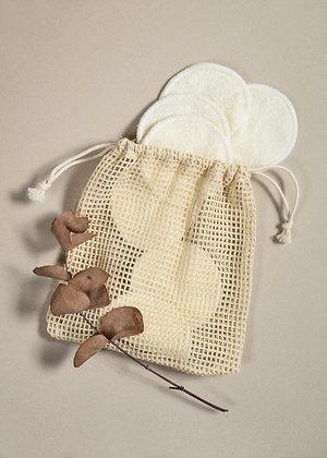 Wasbare wattenschijfjes met waszakje - SQÓN