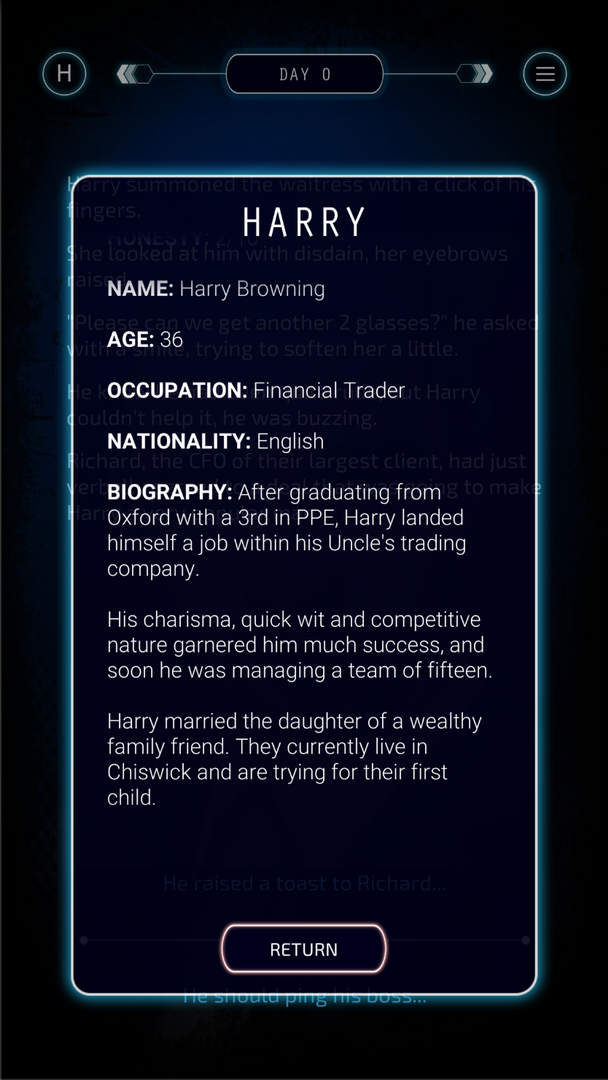 Persona Biography - Harry