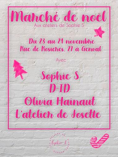 Marché de Noël aux ateliers de Sophie S