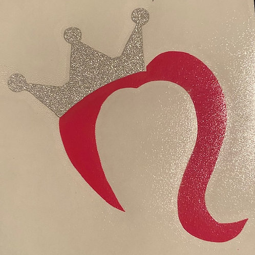 Crown and Wig Vinyl 5 x 5 Sticker