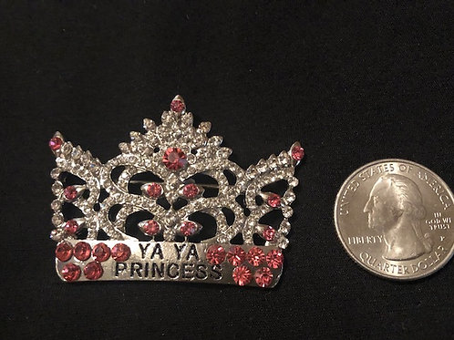 YaYa Princess Crown Rhinestone Pin/Pendant