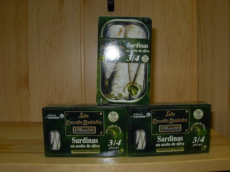 Sardinas en aceite Escuris 3-4 piezas