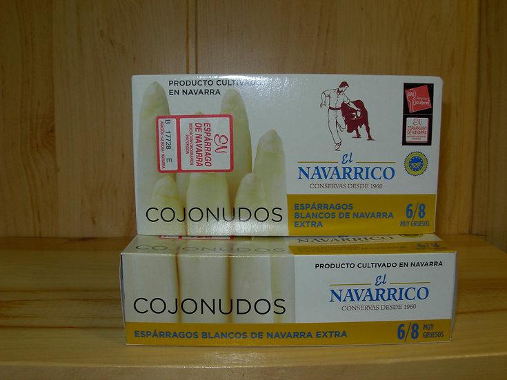 Espárragos Extra blancos El Navarrico 6-8