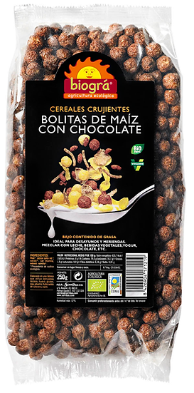Bolitas de maíz con cacao