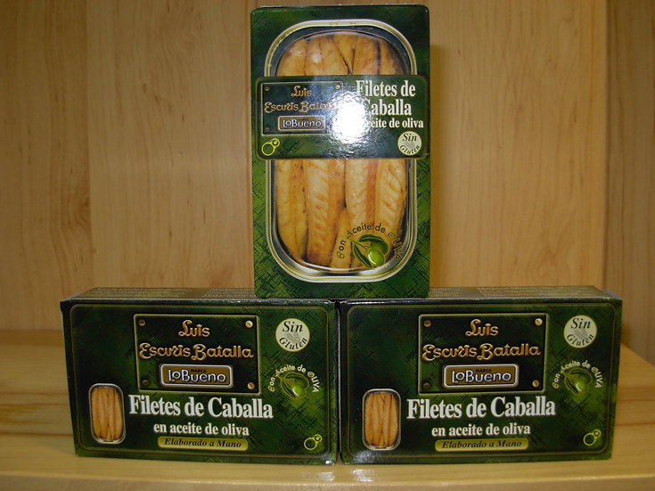 Filetes de Caballa en aceite de oliva Escuris