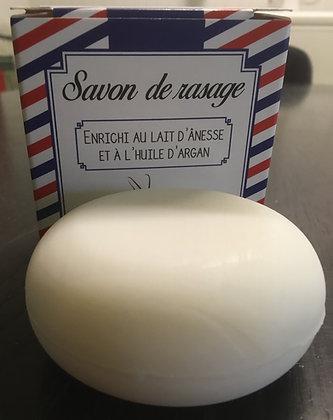 Savon de rasage au lait d'ânesse et à l'huile d'argan