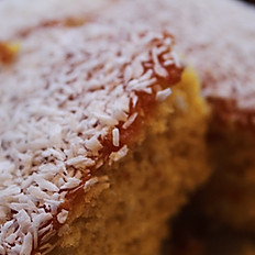 Homemade Coconut and Orange Cake