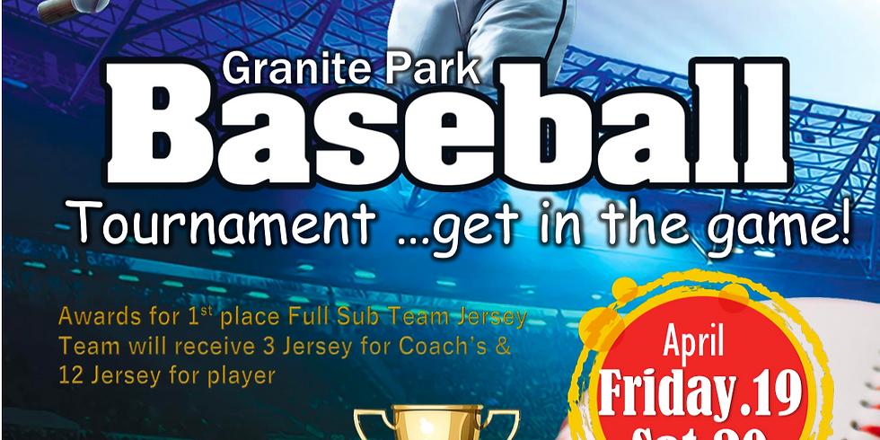 Granite Park Baseball Tournament