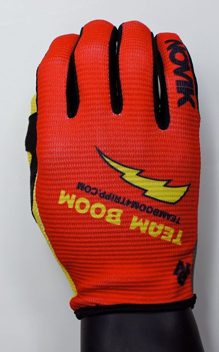 "Adult ""Team Boom"" Riding Gloves"