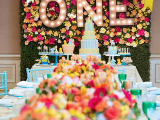 A beautiful 1st birthday luncheon by Fancy That! Events