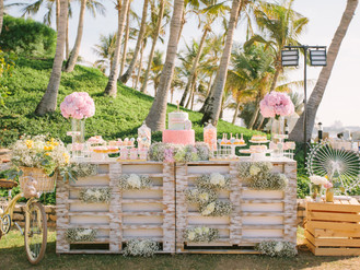 A pastel carnival themed 1st birthday party in Dubai