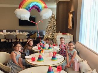 A Rainbow Tea Party for Ava