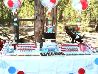 Alex's Vintage Train 2nd Birthday Party