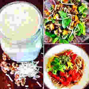 Apple Latte, Pumpkin Salad and Spelt Pasta