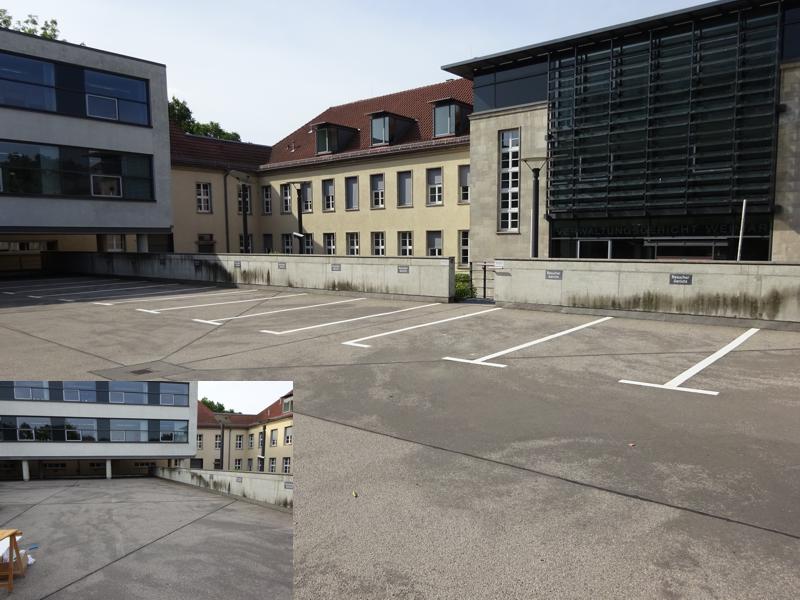 Parkplatzmarkierung Weimar 2