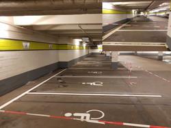 Parkplatzmarkierung Burgaupark Jena
