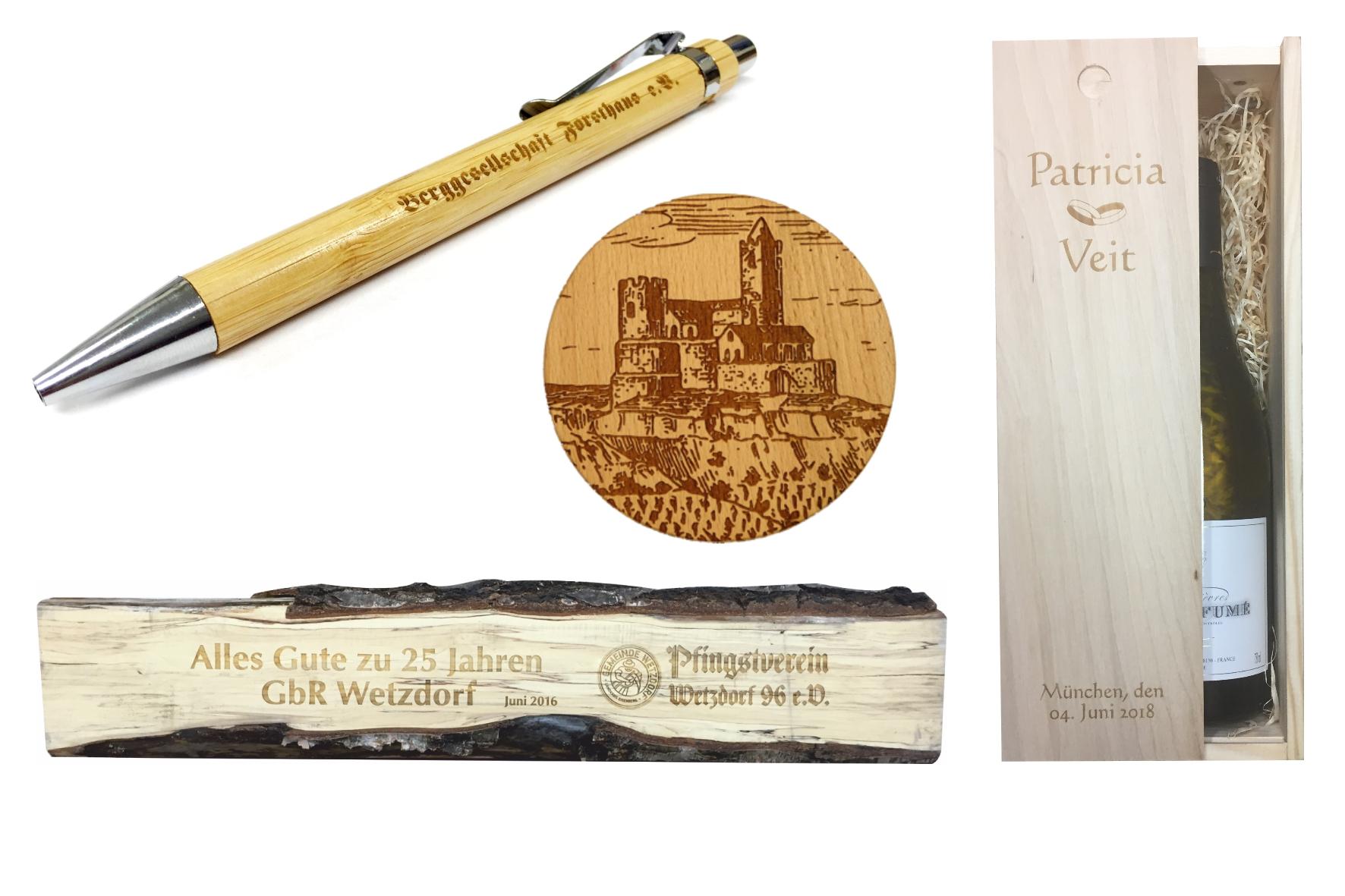Lasergravur in Holz