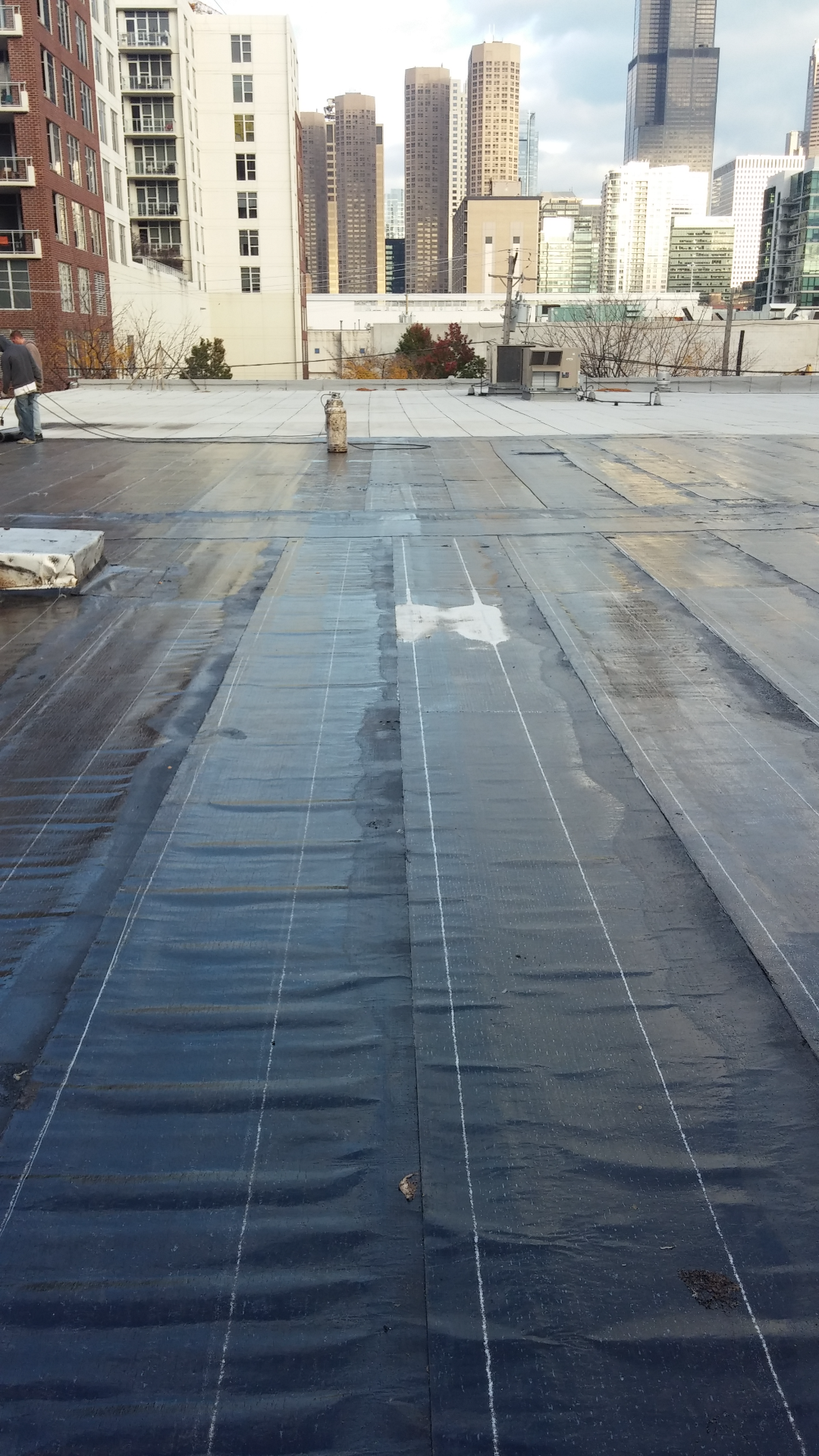 finished work on flat roof