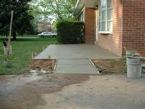 concrete patio installed