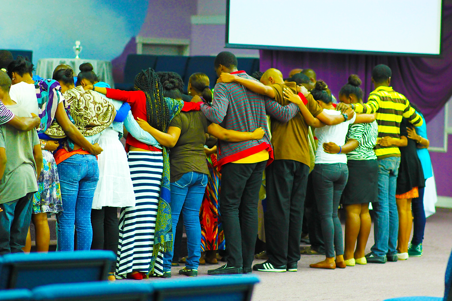 Youth together at a Christian Solidarity Movement  All Night Prayer Meeting