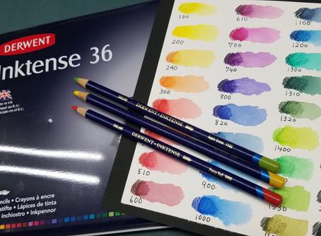 ダーウェント水彩色鉛筆「インクテンスペンシル」