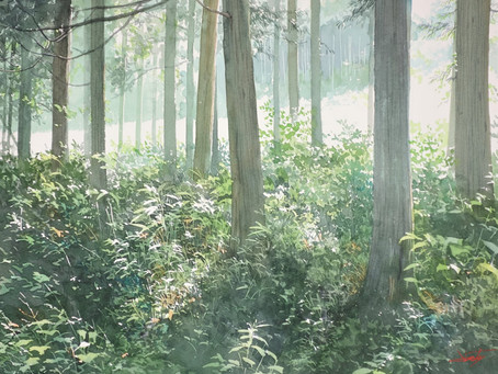 6/30 あべとしゆき 水彩画特別講座 透明水彩で描く初夏の風景