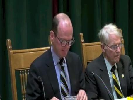 Presentation at Borough Council - April 18