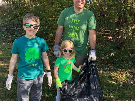 Clean & Green Volunteers Sweep Media