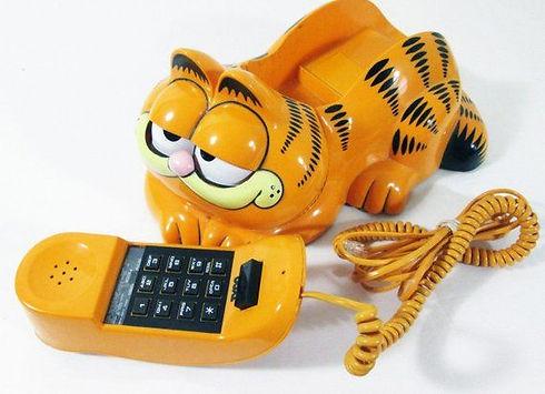 Vintage Tyco 1986 Garfield Telephone 198