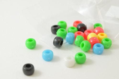 Multicoloured Plastic Beads