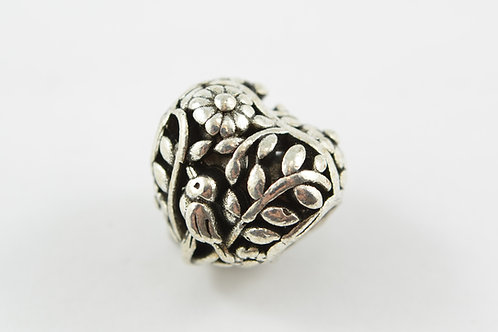 Silver Carved Heart