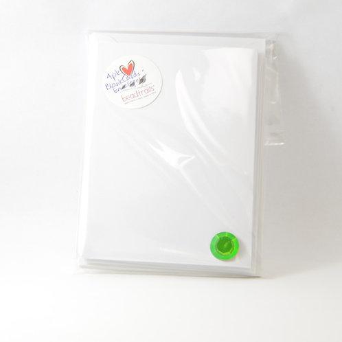 Blank Cards 4/pk