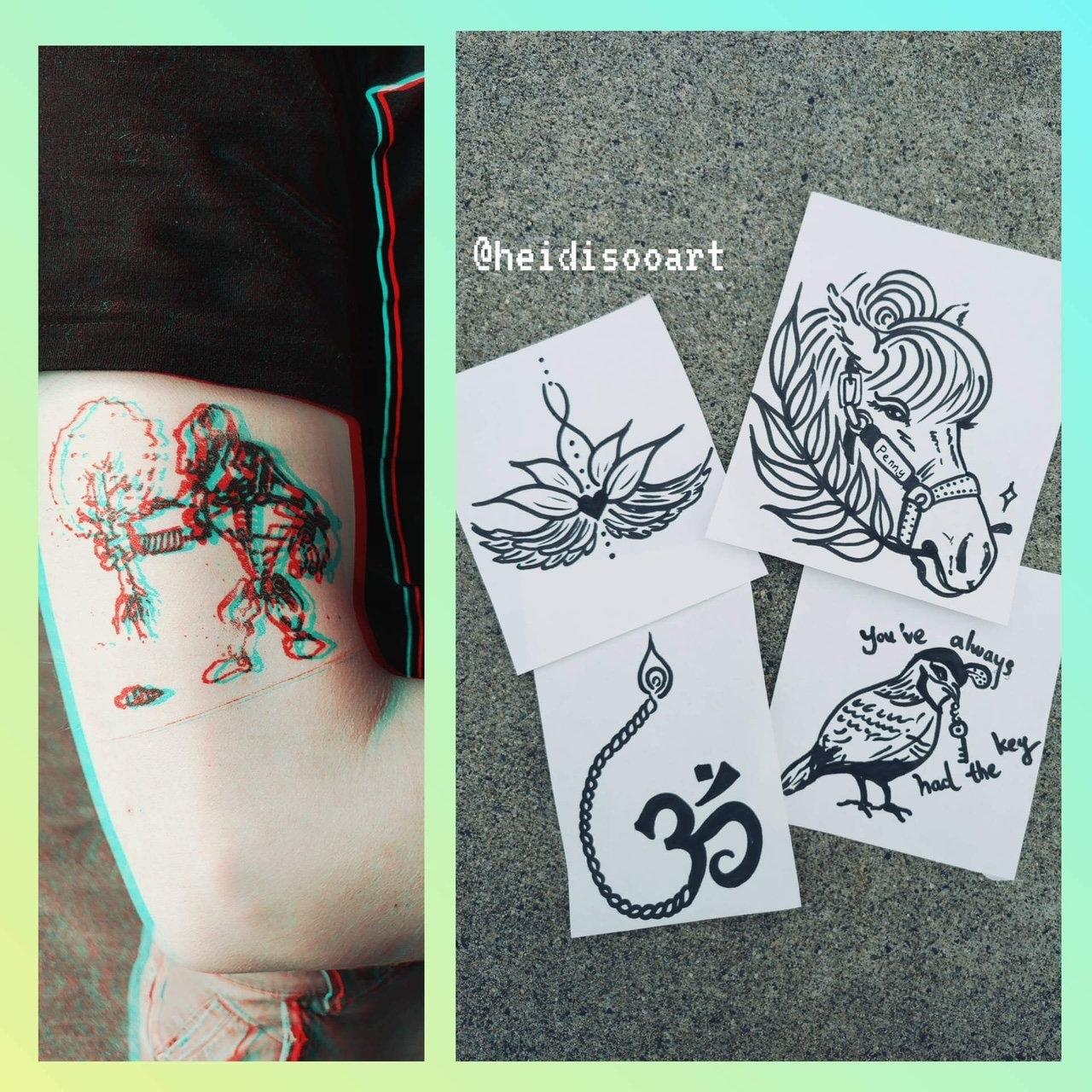 Faux Tattoo Workshop -Aug 7 Sat 12-3PM