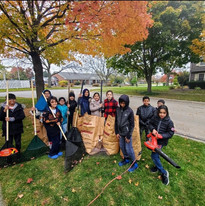 4th Graders 'Sunnah in Action' Raking leaves for neighbors