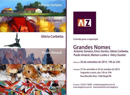 Exposição Grandes Nomes na AZ Galeria em Bagé 2013
