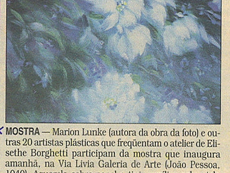 Exposição Coletiva atelier Elizethe Borghetti na Via Lívia em 2000