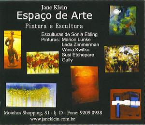 Exposição coletiva de Pintura e Escultura no espaço de arte Jane Klein em 2003