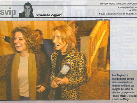 Visita a inauguração no MARGS 2004
