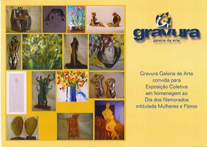 Exposição coletiva Mulheres e Flores em 2004
