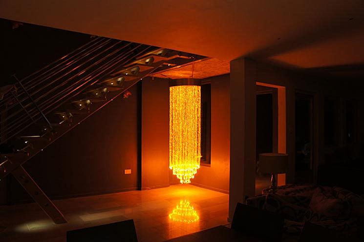 Fiber Optic Chandelier Customize LED Light – Commercial Chandelier