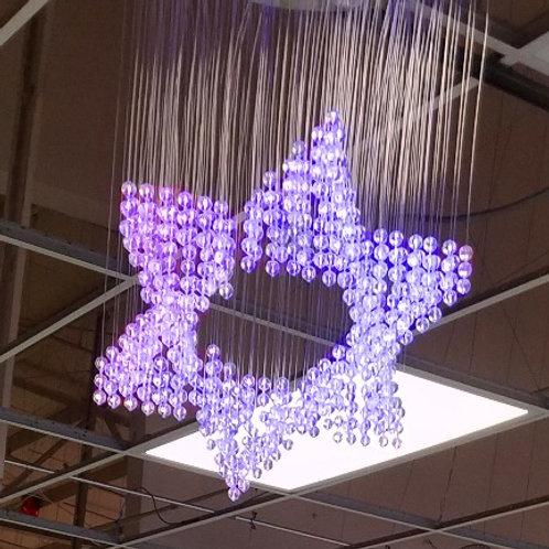 Chandelier Fiber Optic Chandelier LED Color-changing light (Star)