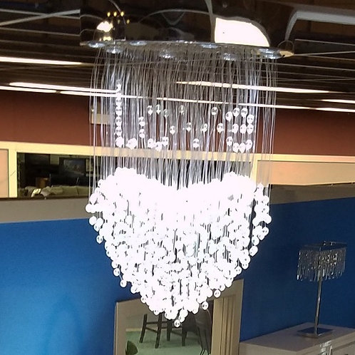 Chandelier Fiber Optic Chandelier LED Fiber Optic Light Color-changing (Heart)