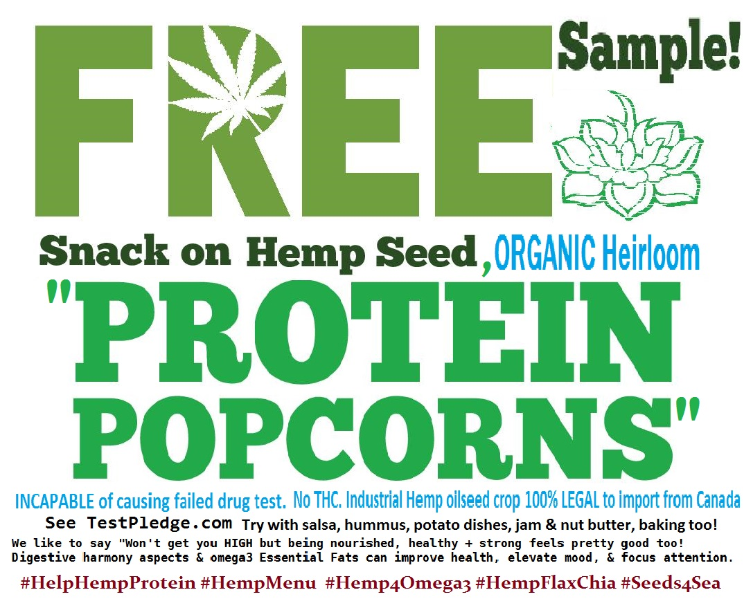 Fats Hubs Free Protein popcorn sign