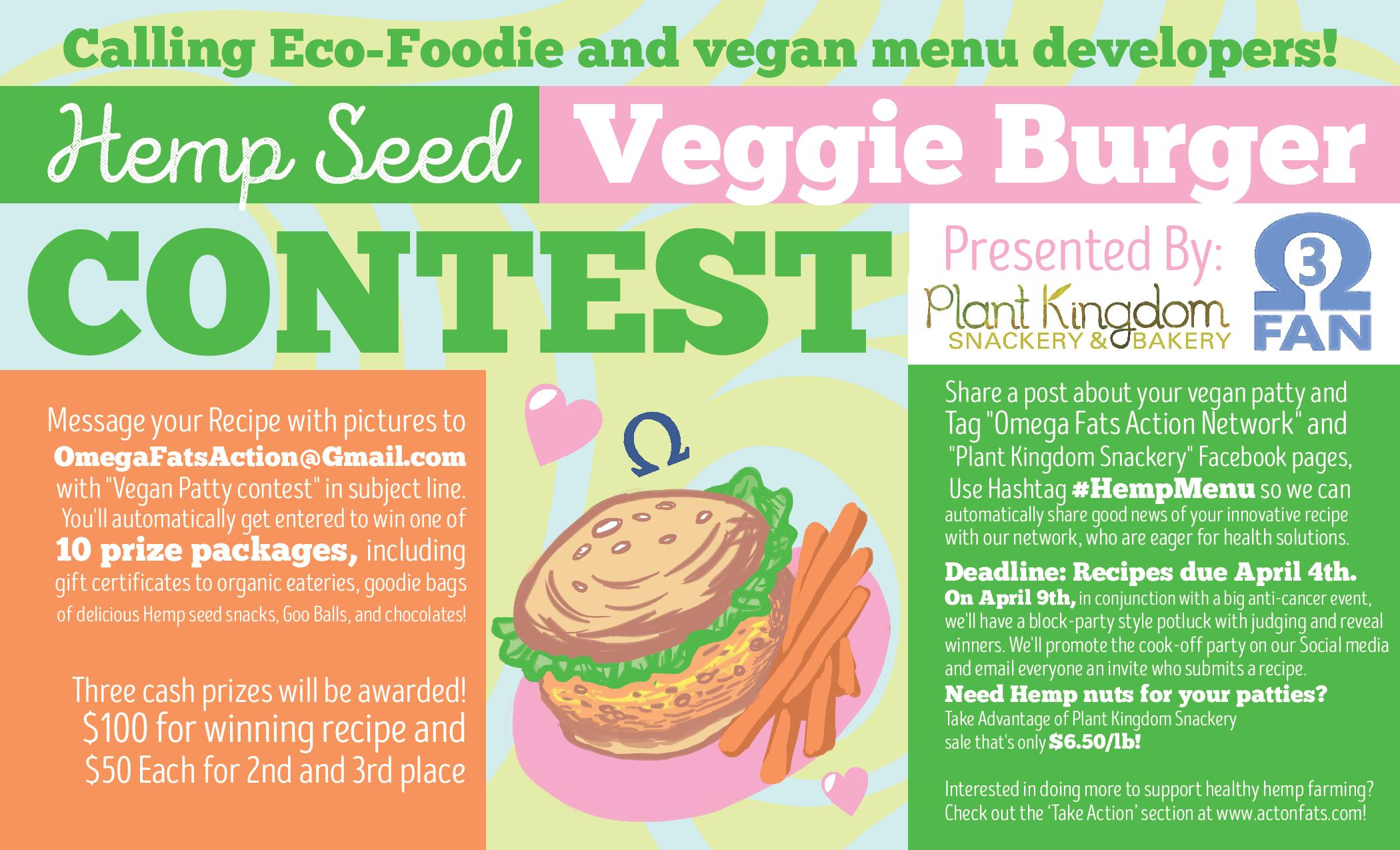 veggie burger contest