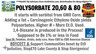 Ethylene Oxide Poison Gas & Polysorbate