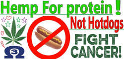 hemp sign not hot dogs with cannabis