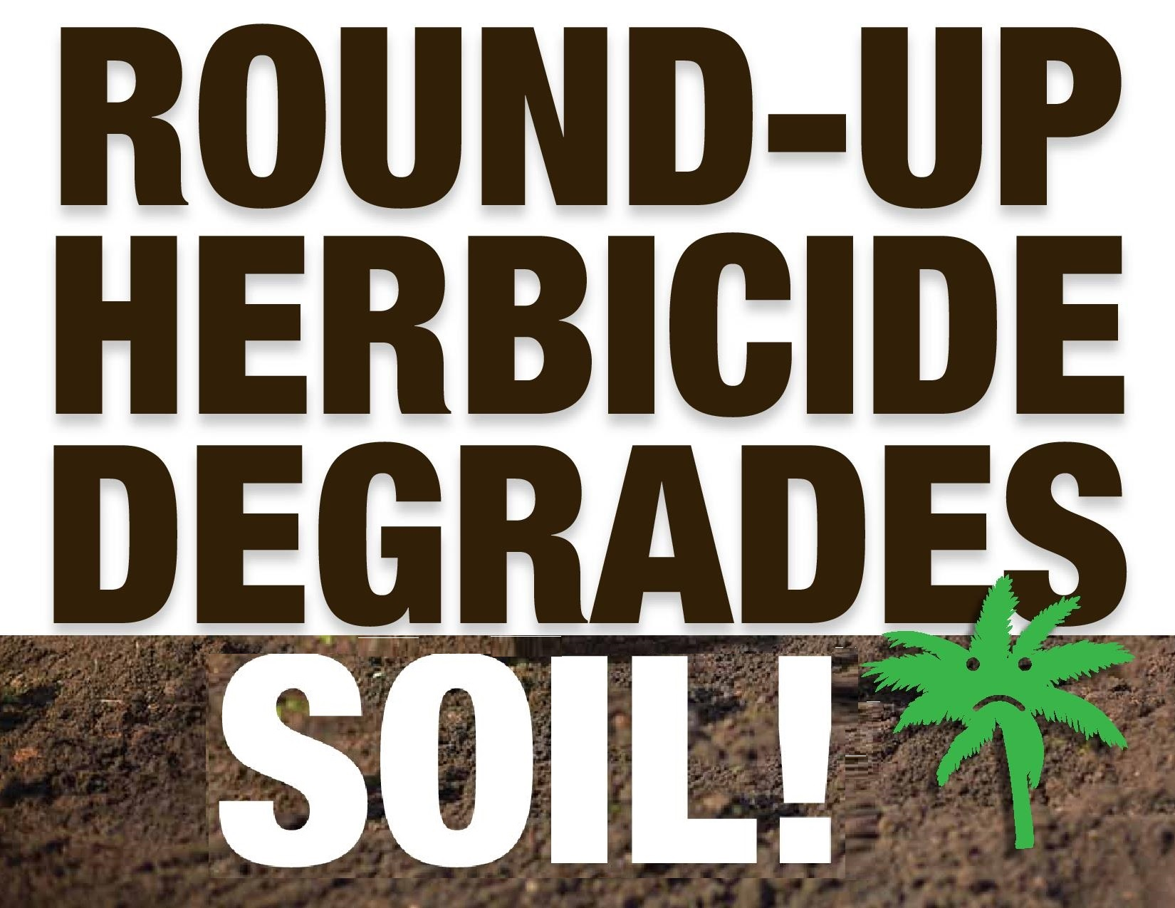 Round-Up Herbicide Degrades soi