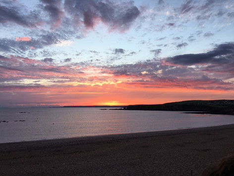 Sunset at South Milton Sands